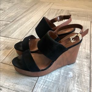 Vince Camuto, Black & Brown wedges, Size 7